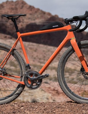 Open's Unbeaten Path can take 700c and 650b wheels (as shown). What's cool about this is the playful future of bike design it points toward