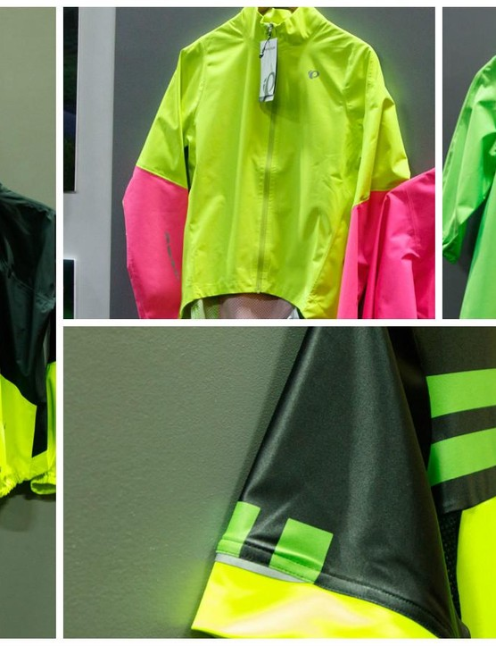 Pearl Izumi's new BioViz clothing takes a different approach to visibility than straight up reflectivity. Firstly, they use fluorescent colours which are said to be three-times brighter than the brightest white. Secondly, the brand places highly reflective markers in areas that will be seen effectively when in motion so that motorists know its a human out in front. Finally, the brand states that high contrast colours help to grab attention