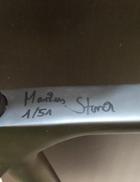 Each of the 51 special edition bikes are signed by Markus Storck