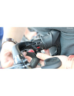 The Red eTap shifters have two ports for plugging in 'Blip' satellite shifters