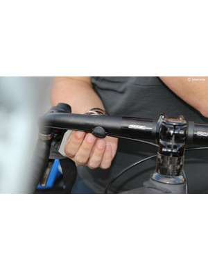 Blips can sit anywhere on the handlebars, under or over the bar tape