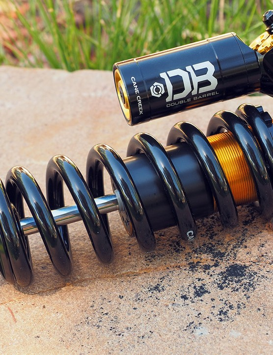 Cane Creek dives deep into the enduro scene with the new DBcoil CS, which blends the sensitivity and ground-hugging ability of a coil sprung shock with the efficiency of a cross-country air shock, thanks to the clever 'climb switch' that instantly boosts the low-speed compression and rebound damping