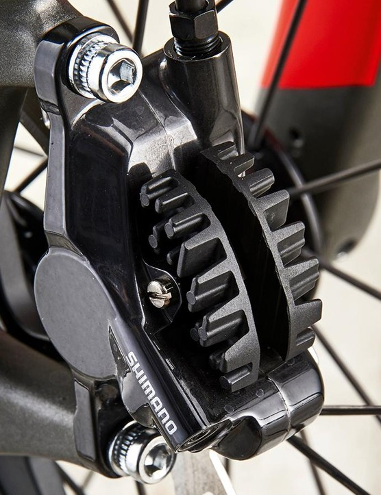 Shimano's R785 hydraulic brakes offer first-rate stopping performance