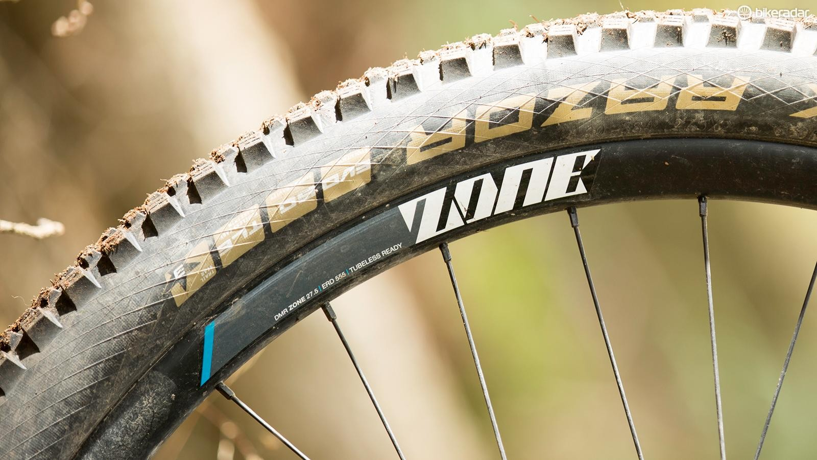 DMR's Zone 650b wheels weathered a season of punishment well