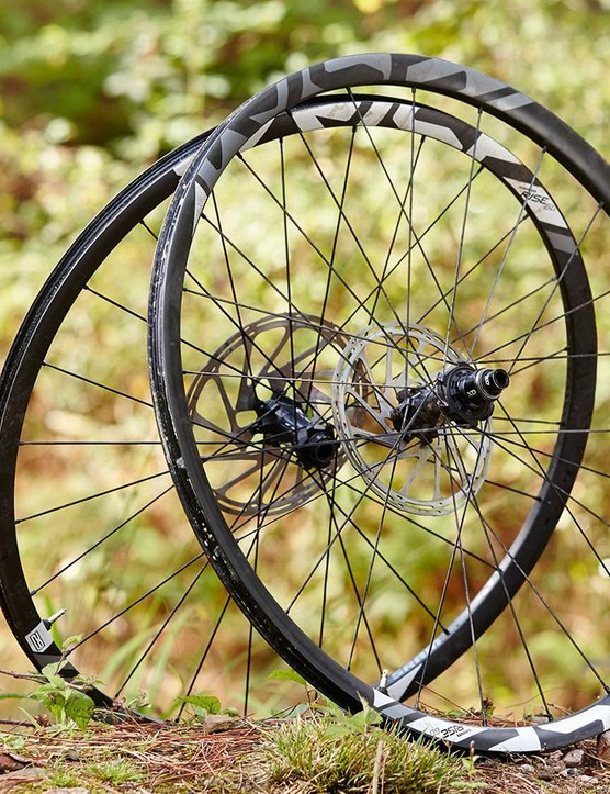 If you need carbon and lightweight take a look at the SRAM Rise wheelset