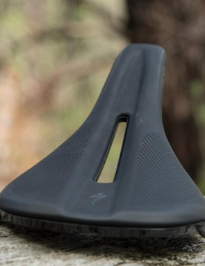 The Specialized Phenom offers a rounded profile that offers a flat base for your sit bones. Note how smooth the edges are to prevent short catching