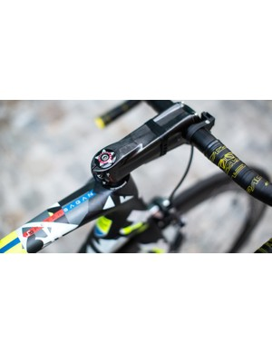 Most riders get their name on a sticker. Sagan has his worked into his one-off paint job