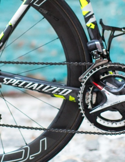 FSA and Dura-Ace mix in the drivetrain