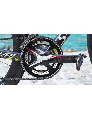 Nothing but straight-ahead 53/39t on these 172.5mm cranks