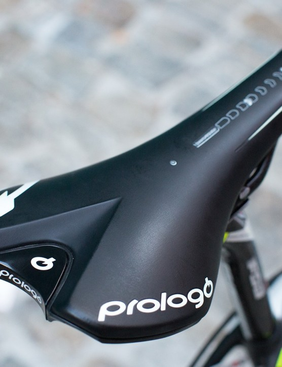 Sagan's Prologo Scratch 2 is marked at the center for consistent measurement