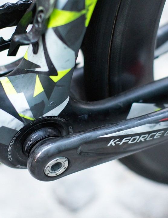 With the abundance of bottom bracket 'standards', even the pros bikes have to use adaptors sometimes these days