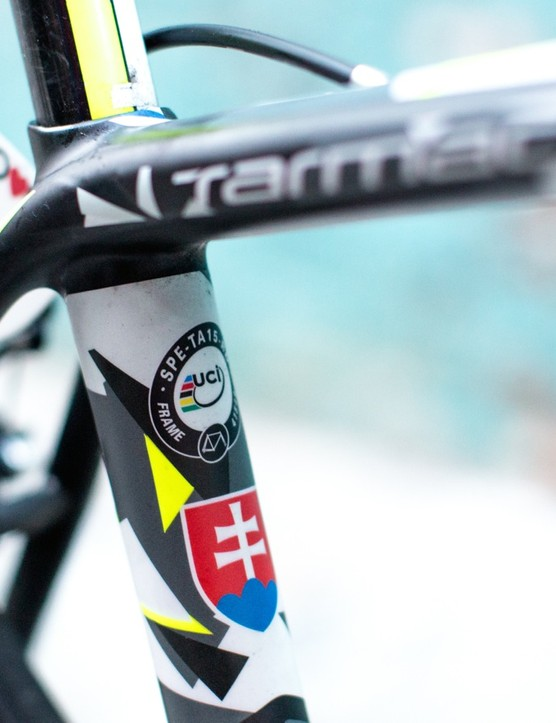 This Tarmac gets a thumbs up from the UCI, the nation of Slovakia, and fans of black-and-white camo