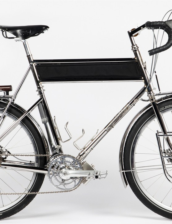 Ahearne built this custom stainless steel touring bike for London bike shop Look Mum No Hands