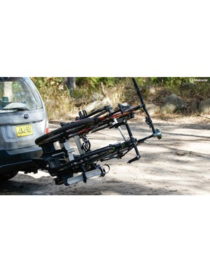 Even fully loaded, the rack will hold the bikes away from the boot and allow easy access to your belongings