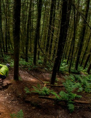 Mojo's Welsh test track fetatures dozens of corners of all shapes and sizes –it's perfect for testing a bike's handling