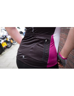 3 elasticated pockets at the back plus one zipped pocket provide plenty of room for essentials