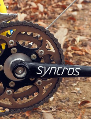 One of the component highlights on this particular build is the Syncros Revolution crankset with its welded tubular chromoly crankarms