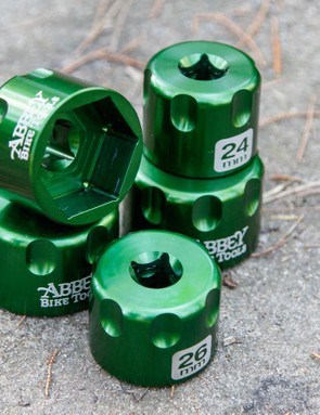 Abbey Bike Tools now offers a set of five sockets for use on stubborn suspension fork top caps. They're priced for the pro's, but are the first truely bicycle-specific suspension socket we know of