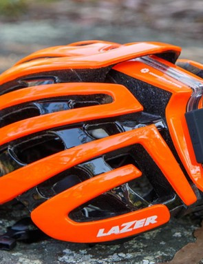 The new (this is a pre-production sample) Lazer LifeBEAM 2.0 DIY kit installed on a Lazer Z1 helmet