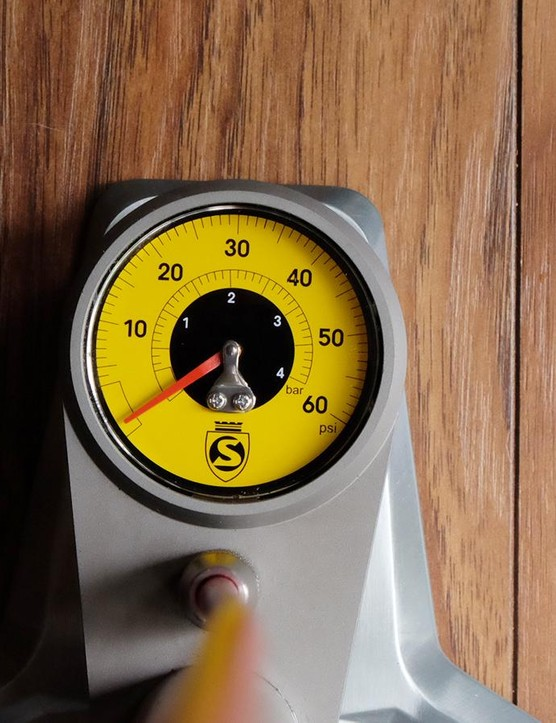 The low-pressure gauge only goes up to 60psi and is said to be accurate to .5psi