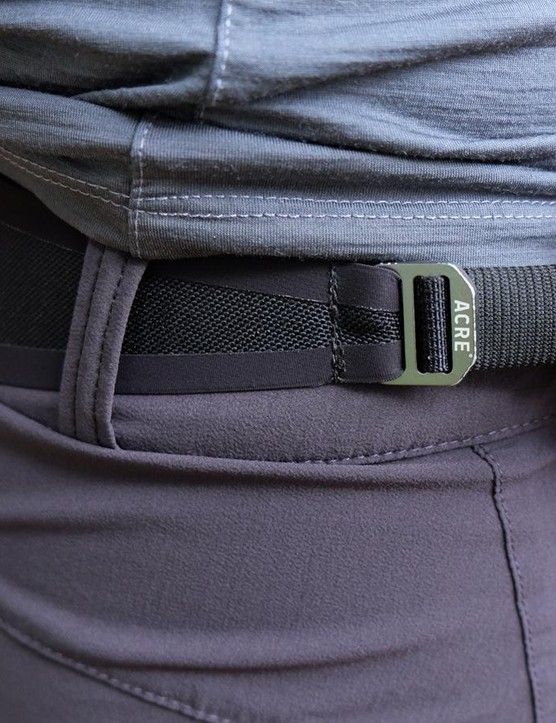 The Traverse short has a single-sided pull to adjust fit
