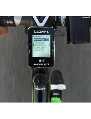 In initial testing, we found the Lezyne Super GPS to stay connected to our iPhone more reliably than a Garmin Edge