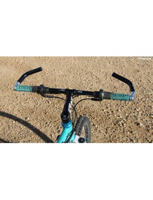 Once upon a time, bar ends were in fashion and made sense. They actually sat in a logical biomechanical position. Pictured are the bars from Missy Giove's 1993 Yeti ARC ASLT