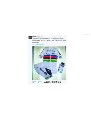Bioracer tweets the new kit design