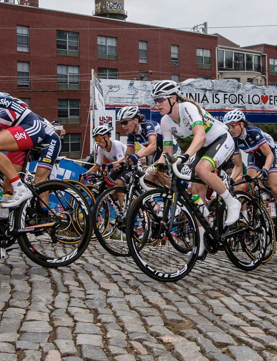 Armitstead leads the charge up Libby Hill in Richmond, Virginia