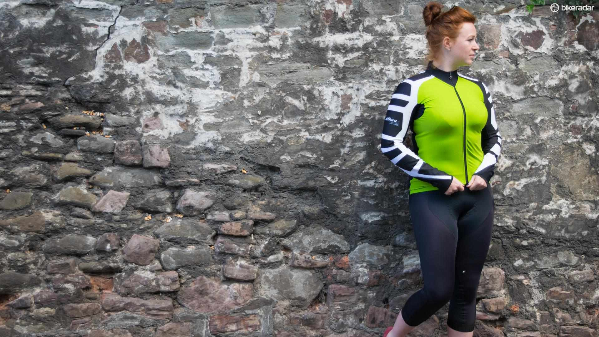 The Assos iJ.tiburu.4 jacket and women's hK.434.Lady knickers. The names don't exactly trip off the tongue, do they?