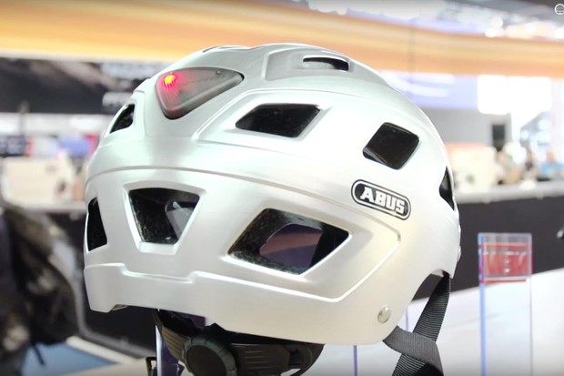 Abus has packed features into its helmet range, include integrated rear lights, rain covers and even visors