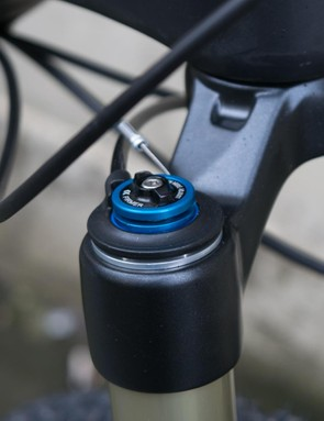 On top of the lockout mechanism is an adjuster to dial in compression for the fork's 'open' setting