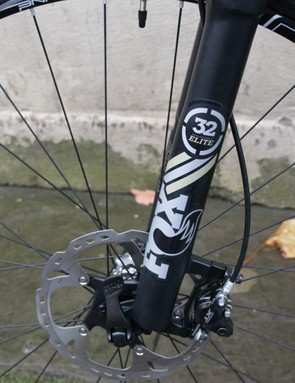 The fork and wheel graphics match up perfectly to the rest of the bike