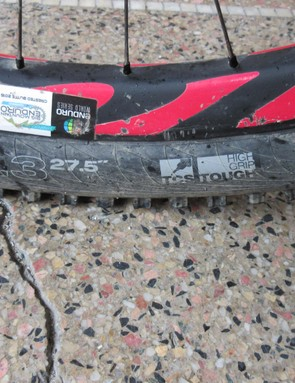 The Ibis 741 wheels bear the stickers and the scars from previous races, but remain intact nonetheless