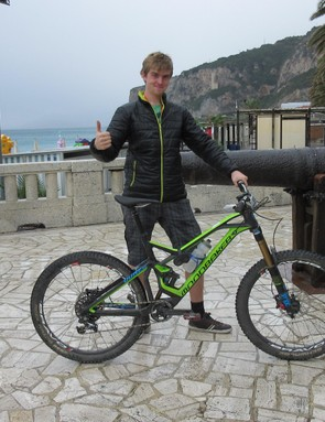 Our author's weapon of choice: a customised Mondraker Dune Carbon RR