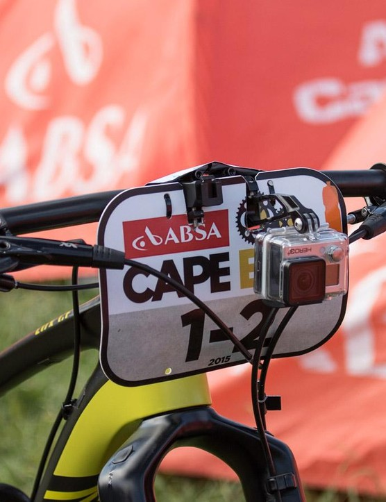 Alban Lakata - 2015 mountain bike marathon world champion - uses a non-traditional, but forward-thinking handlebar shape and position