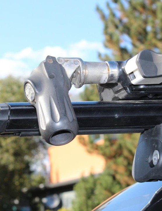 Make sure the closed lever sits inboard of the basebar, otherwise thieves can forcibly unscrew the lever