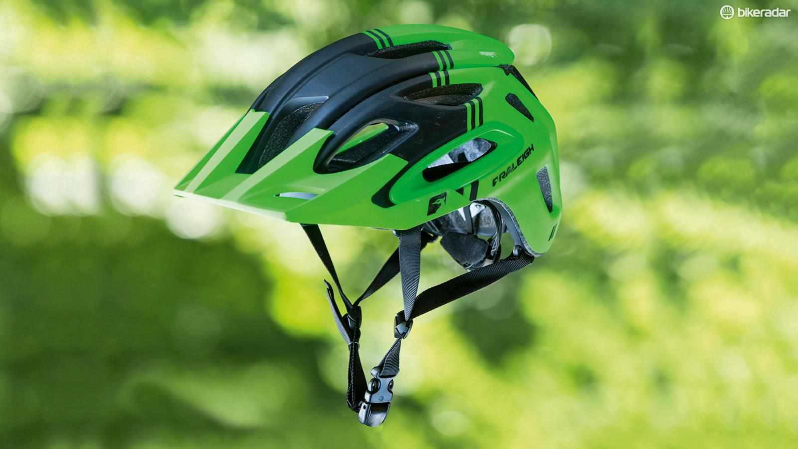 Raleigh's Magni helmet is well ventilated and nicely constructed for the price
