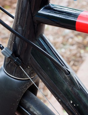 Cable routing is a mix of internal and external. Some additional sealing around the rear brake line would be nice