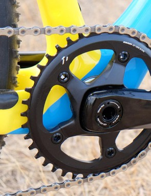 The SRAM Rival X1 crankset with a a 40t chainring