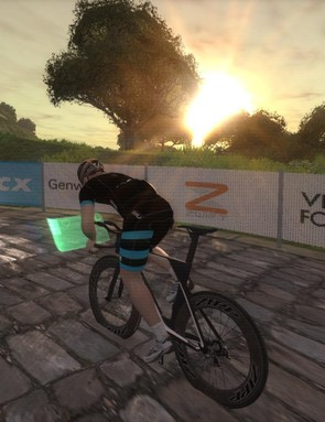 Zwift recently added the Richmond road world championship course to its menu