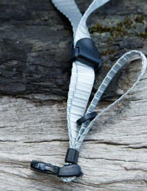 Lightweight straps are unobtrusive and quiet in the wind