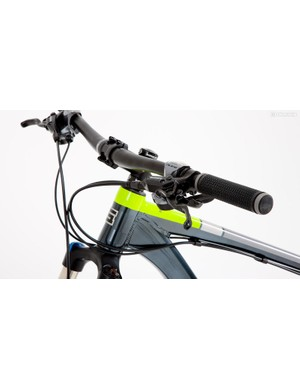 The 720mm bars are adequate but you may want to switch them for something wider for more leverage