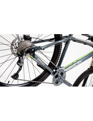 A wide-range 3x transmission eases the legwork if you're new to mountain biking