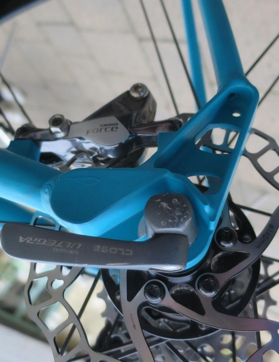 The Pilgrim's rear dropouts are machined to save weight but still include a threaded boss for mudguards