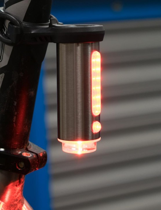 There's a standard rear-facing lamp…