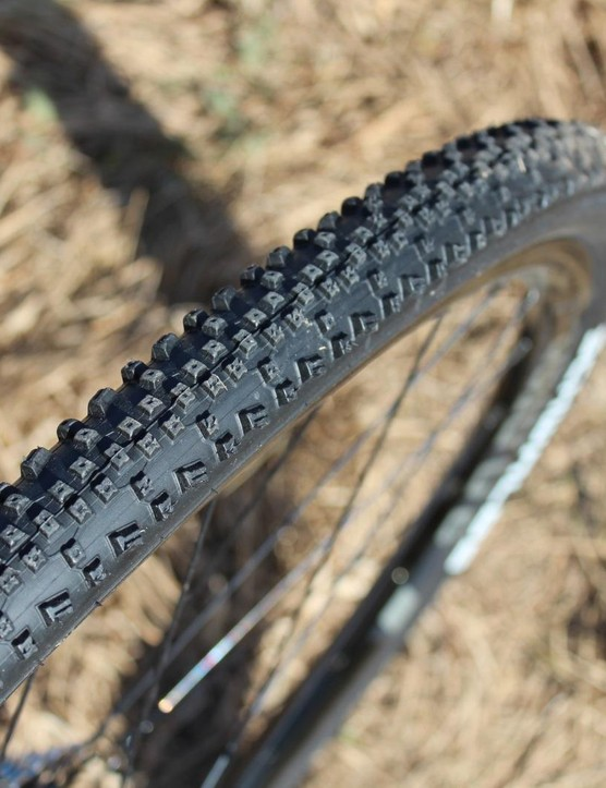 Schwalbe's Rapid Rons shod the Cannondale