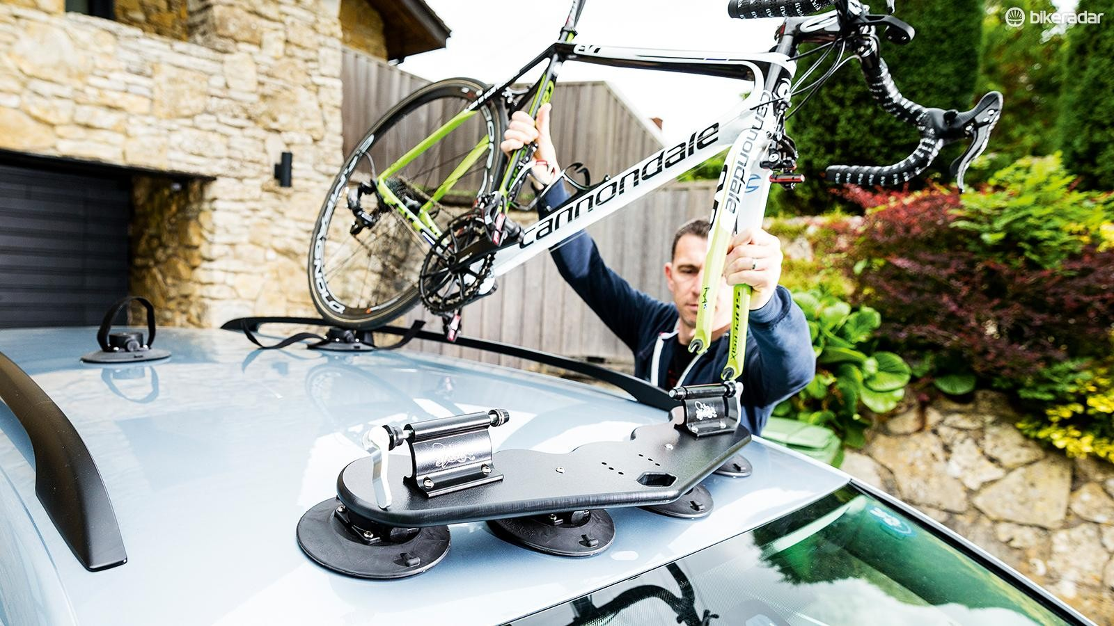 SeaSucker's Mini Bomber roof rack is an ingenious and versatile bike-hauler