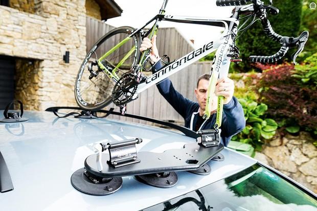 SeaSucker's Mini Bomber roof rack is an ingenious and versatile bike-hauler