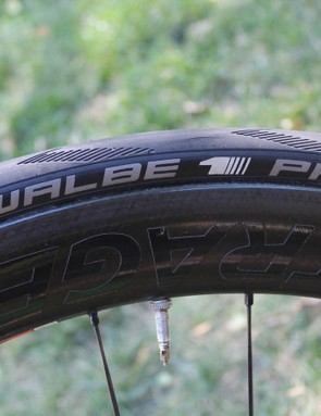 The Schwalbe Pro One is easily the best road tubeless tyre I've ridden
